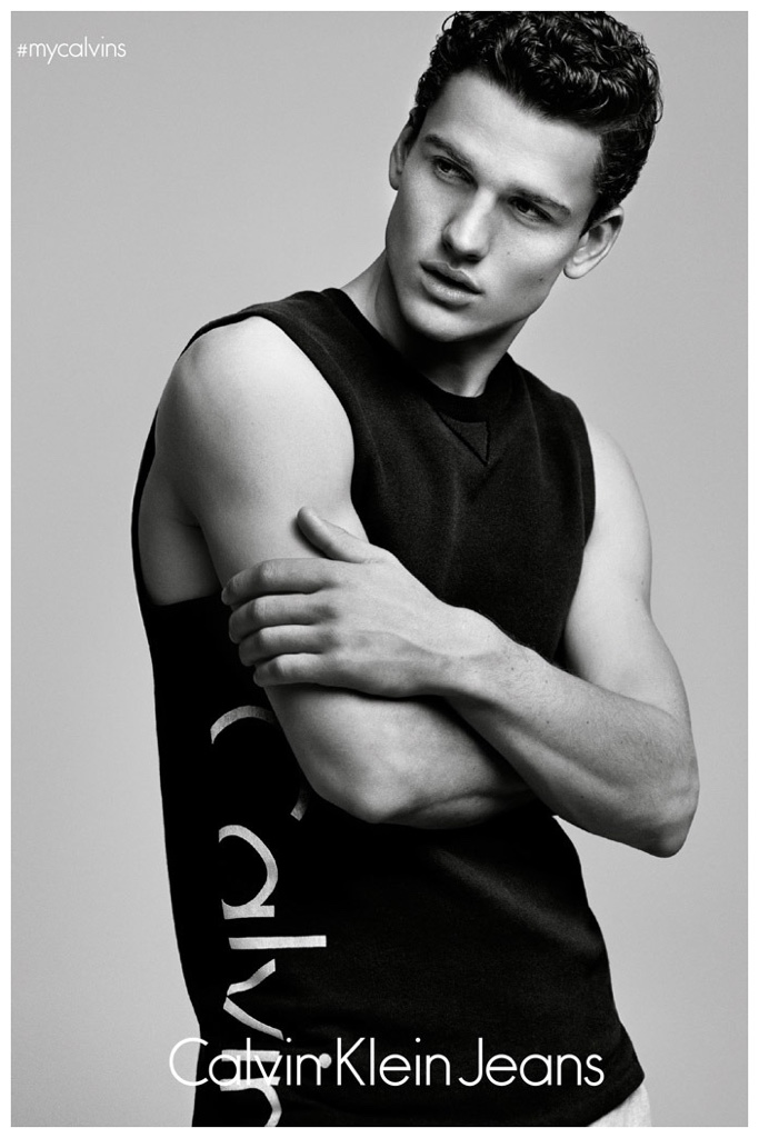 Simon Nessmanwill star in the new campaign for #mycalvins Denim Series for Calvin Klein.