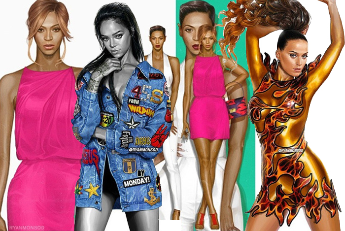 CHECK OUT THESE BEYONCE AND RIHANNA'S ON POINT ILLUSTRATIONS BY A FILIPINO ARTIST