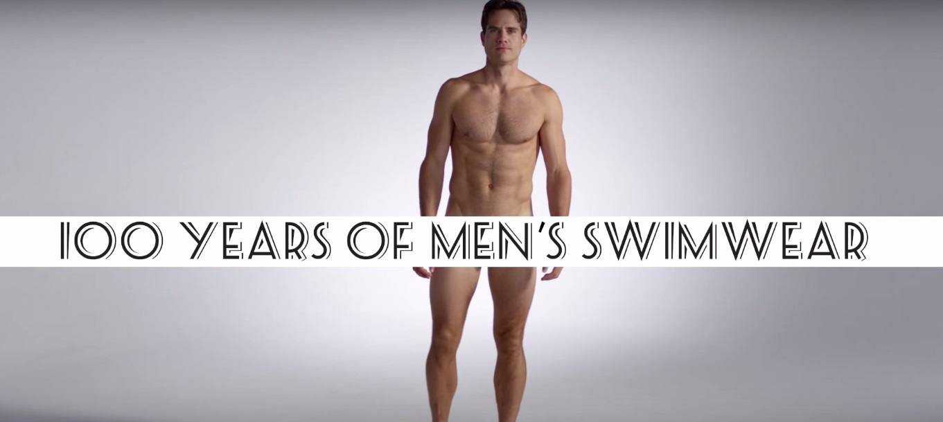 SEE 100 YEARS OF MEN'S SWIMWEAR IN JUST 3 MINUTES