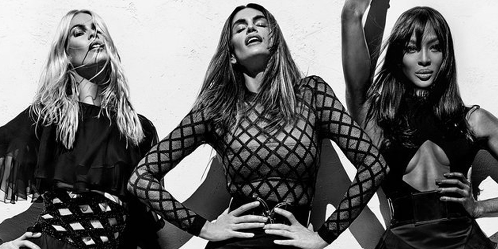 BALMAIN SPRING 2016 CAMPAIGN FEATURING NAOMI, CINDY AND CLAUDIA