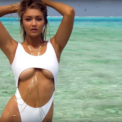 GIGI HADID IS WET AND SEXY FOR 'SPORTS ILLUSTRATED SWIMSUIT ISSUE' 2016