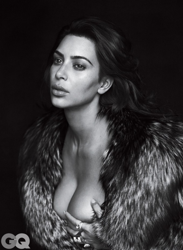 KIM KARDASHIAN WEST GOES NUDE FOR THE COVER OF GQ MAGAZINE'S 10TH ANNIVERSARY COVER