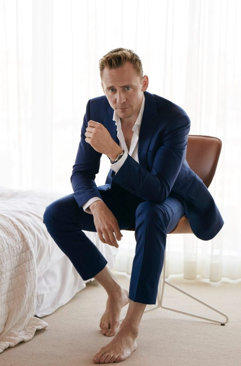 TOM HIDDLESTON IS SEXY AND SHIRTLESS FOR W MAGAZINE