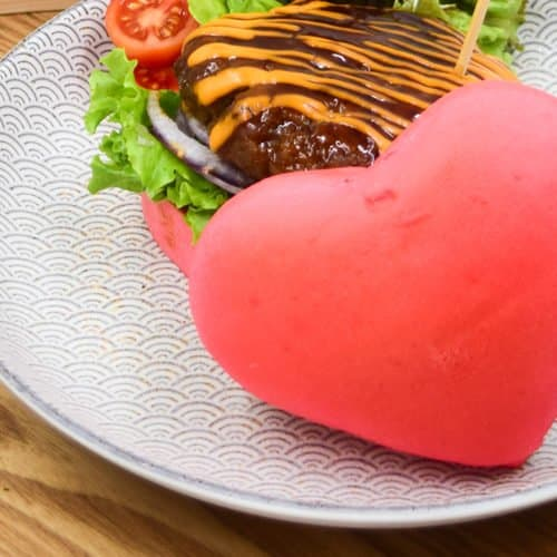 THIS HEART-SHAPED BURGER IS PERFECT FOR VALENTINE'S DAY