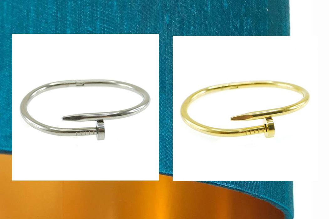 Silver Imono Bangle, 879.75 | Gold Imono Bangle, ₱949.75