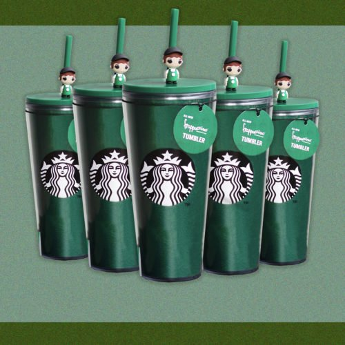 10 FREE DRINKS COME WITH THE NEW STARBUCKS FRAPUCCINO TUMBLER THIS MONTH