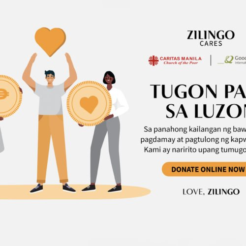 ZILINGO PHILIPPINES LAUNCHES 'TUGON PARA SA LUZON' DONATION DRIVE  TO EXTEND AID TO FILIPINOS AFFECTED BY TYPHOON ULYSSES
