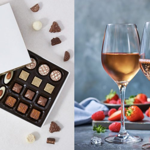 CELEBRATE THE VALENTINE'S DAY WITH WINES AND CHOCOLATES FROM MARKS  & SPENCER