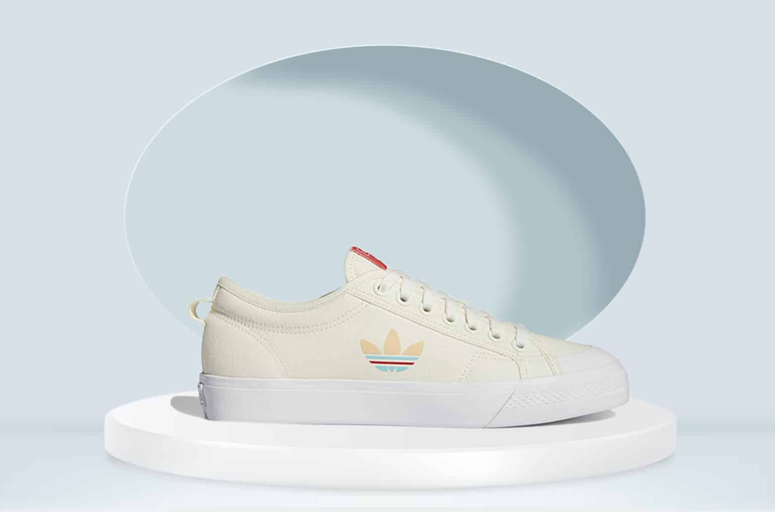 ADIDAS N IZZA TREFOIL SHOES OFF WHITE