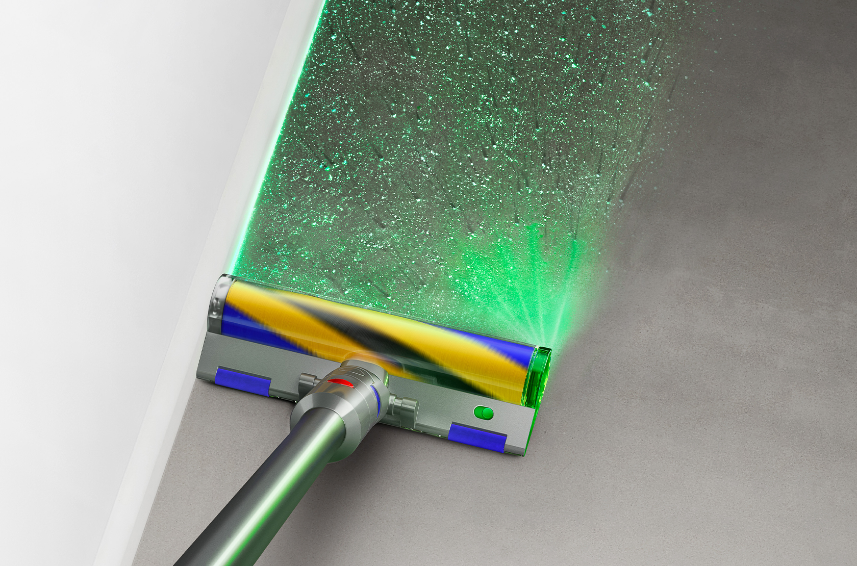 THIS NEW DYSON VACUUM CAN REVEAL HIDDEN DUST WITH ITS GREEN LASER FEATURE